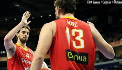 Gasol & Gasol (Foto FIBA Europe/Castoria/Molliere)