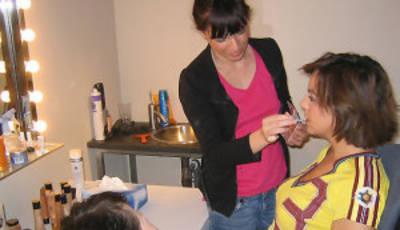 Cristina Villanueva en maquillaje
