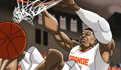Fab Melo, bajo la visión de Michael Borkowski (Foto: syracuse.com)
