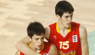 Josep Pérez y Albert Homs, buenas referencias del exitoso equipo español (Foto FibaEurope)