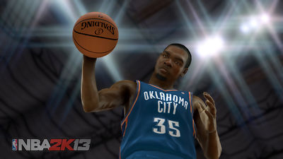 Kevin Durant, reflejado en el NBA 2K13 (Foto: 2K Sports)
