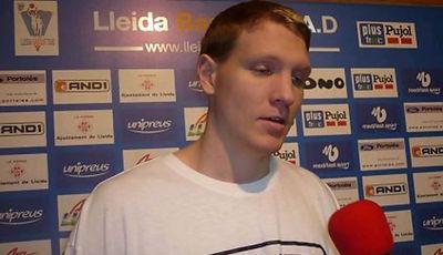 Christian Maraker haciendo declaraciones (Foto: Basquet Lleida)