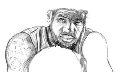 Lebron James (Dibujo: http://k-otq.deviantart.com/).