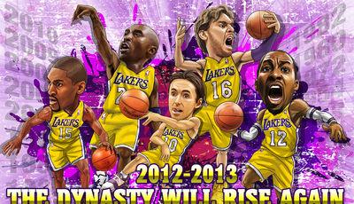 Lakers 2012-13, lo que pudo haber sido y no fue (Montaje: posterizes.com).