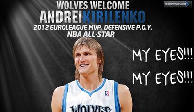 Promoción de los T-Wolves con Kirilenko (Foto: timberwolves.com).